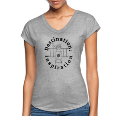 Destination: Inspiration - Women's V-Neck Tee - heather gray