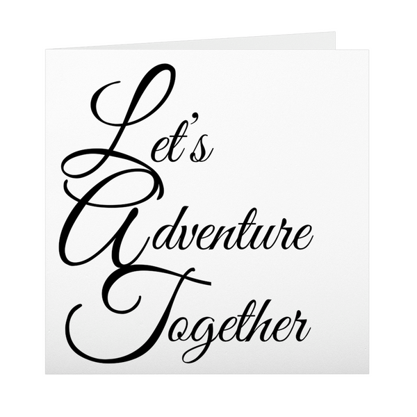 Let's Adventure Together Folded Cards