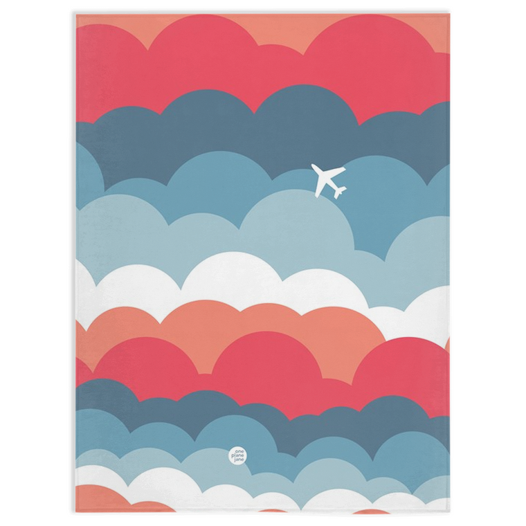 Travel Fleece Blanket - Signature Clouds