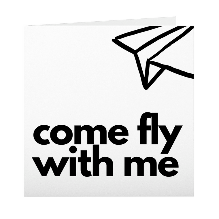 Come Fly With Me Folded Cards