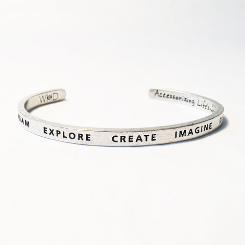 Dream Explore Create Adjustable Cuff Bracelet
