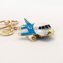 Keychain - Fat Airplane Jet