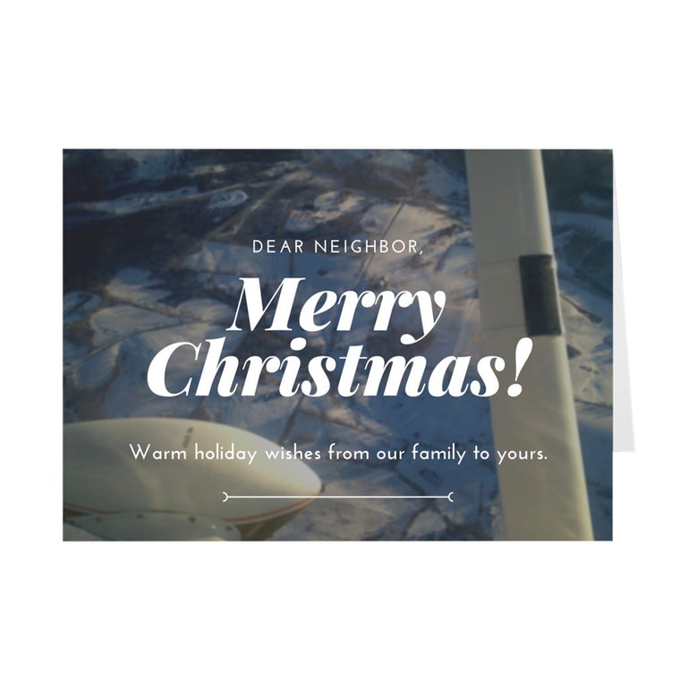 Dear Neighbor, Merry Christmas! Holiday Card