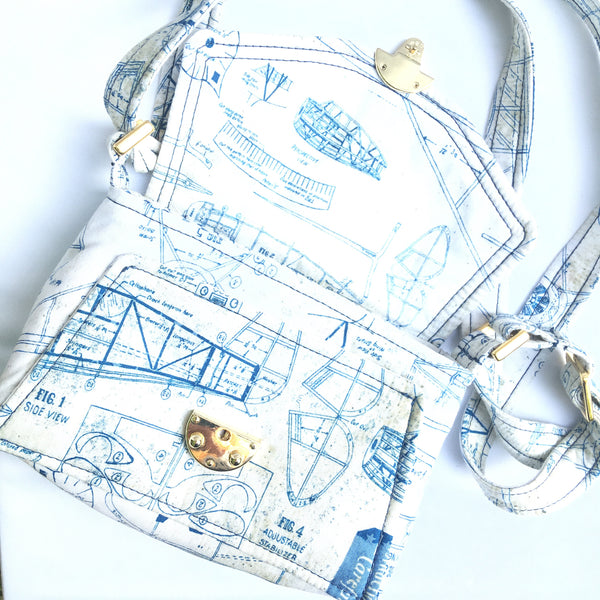 Echo Crossbody Airplane Blueprint