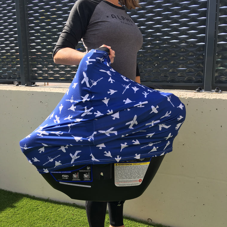 Car Seat and Nursing Cover - Soar in Navy