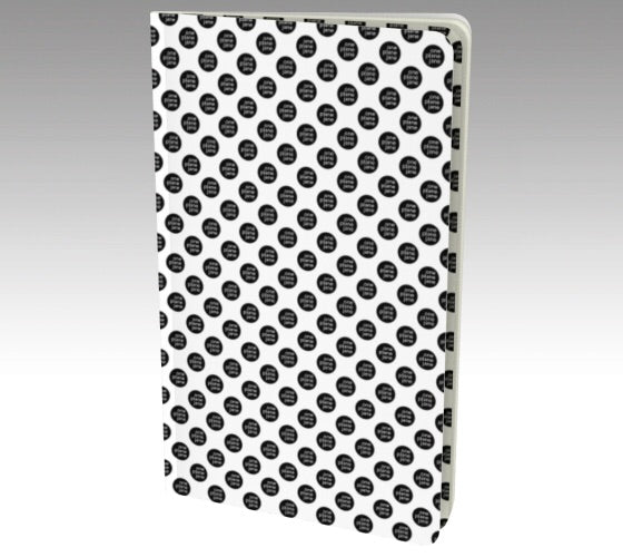 Notebook - Black and White Polka Dots