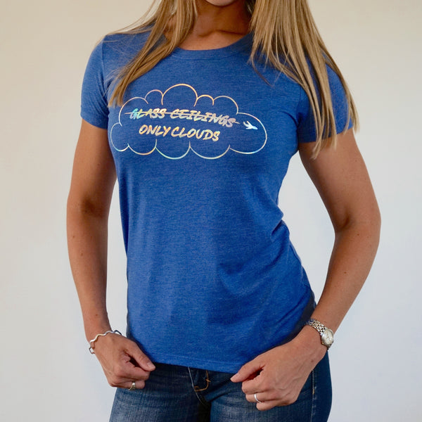 Only Clouds Triblend Tee- Vintage Royal (Junior fit)