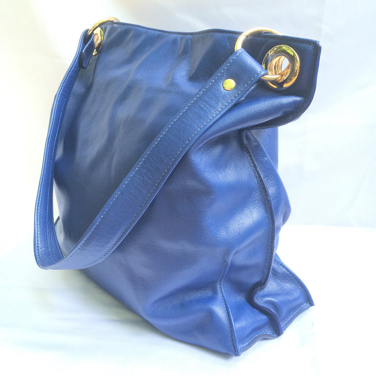 Juliett Leather Handbag in Royal Blue