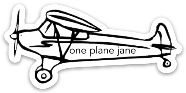 Airplane Sticker
