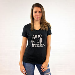 Jane of All Trades V-neck T-shirt