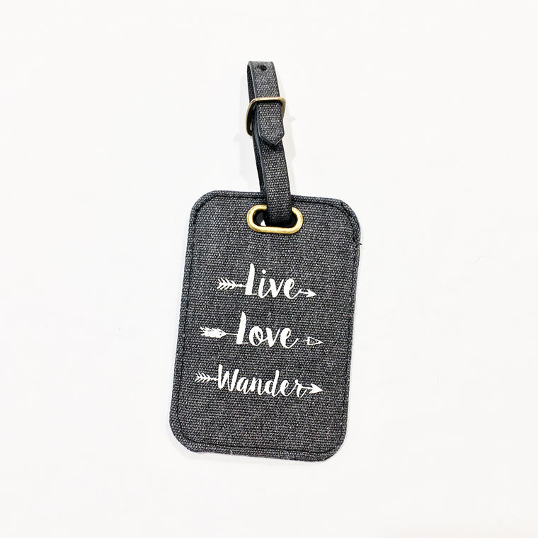 Live Love Wander Luggage Tag