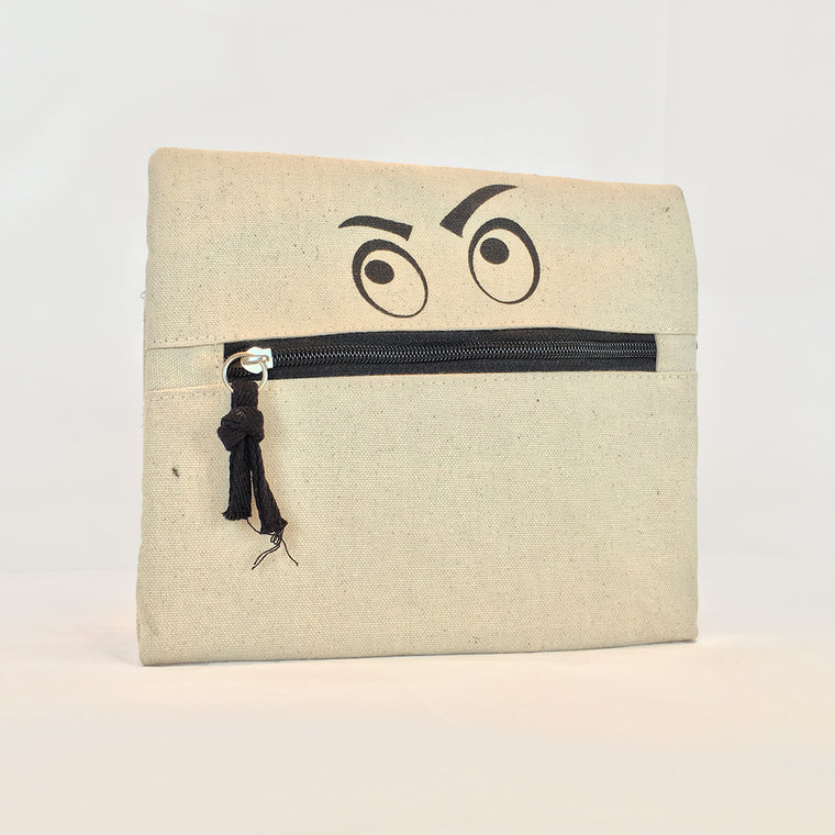 Zippered Pouch - Angry Eyes