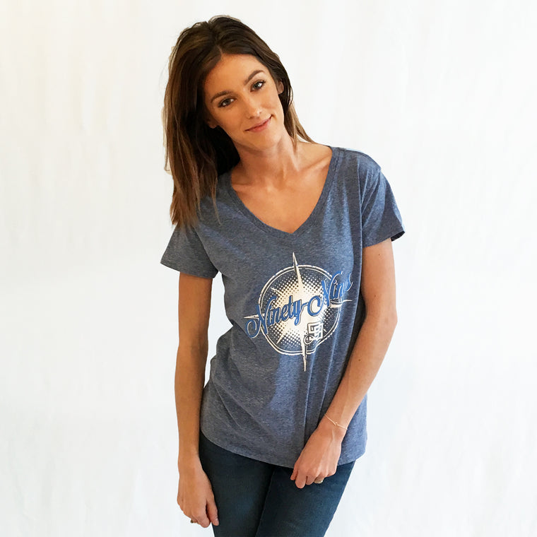 The Ninety-Nines V-Neck T-shirt Cosmic Blue