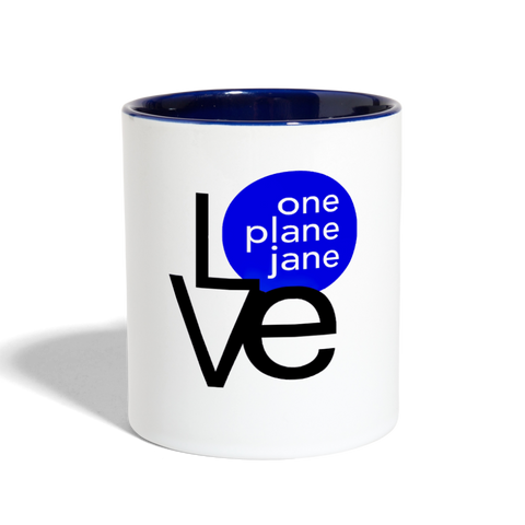 I Love My Mechanic Contrast Coffee Mug - Blue - white/cobalt blue