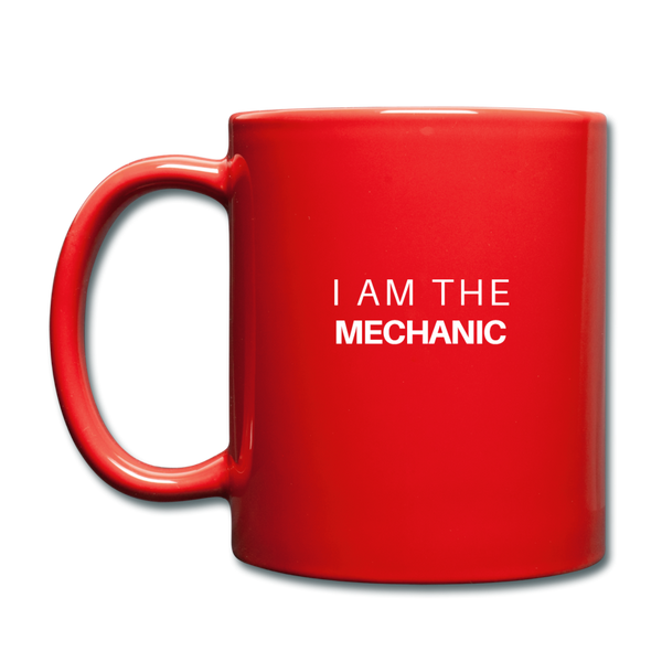 I Am The Mechanic Mug - red