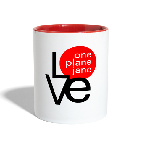 I Love My Mechanic Contrast Coffee Mug - Red - white/red