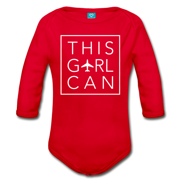 This Girl Can Organic Cotton Longsleeve Bodysuit