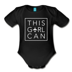 This Girl Can Organic Cotton Bodysuit - black