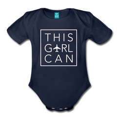 This Girl Can Organic Cotton Bodysuit - dark navy