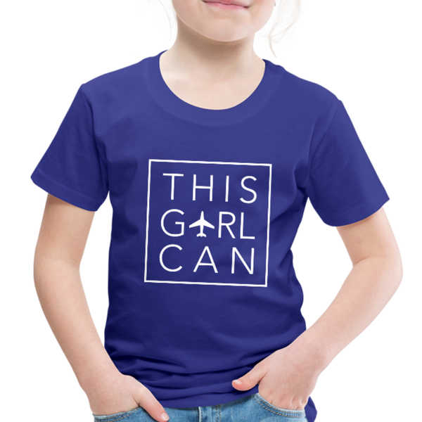This Girl Can Toddler Tee - royal blue