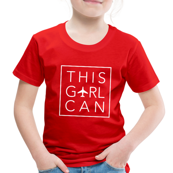 This Girl Can Toddler Tee - red