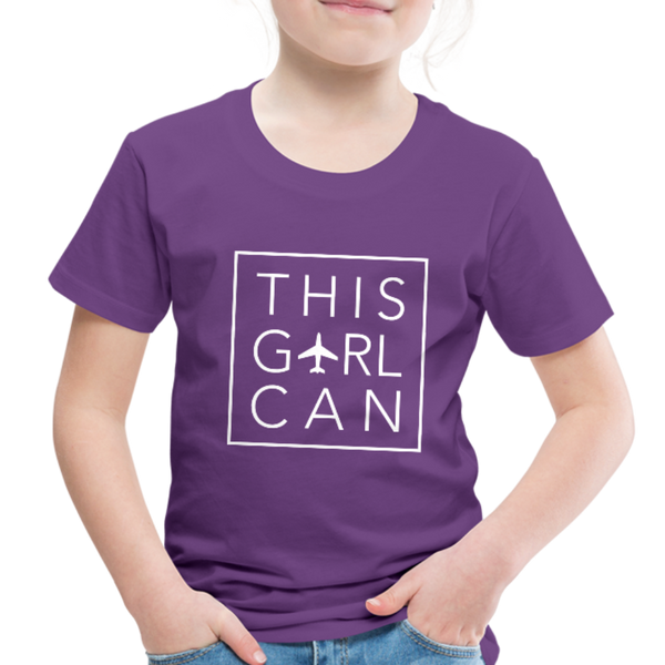 This Girl Can Toddler Tee - purple