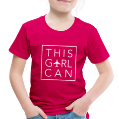 This Girl Can Toddler Tee - dark pink