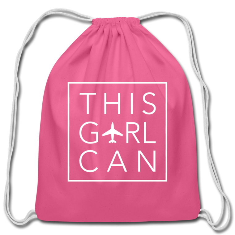 This Girl Can Cotton Drawstring Bag