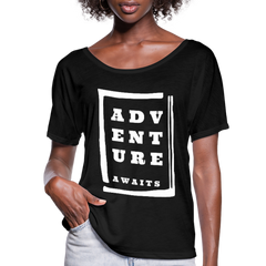 Adventure Awaits - Women's Flowy T-Shirt - black