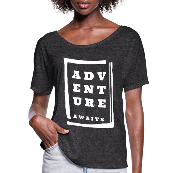Adventure Awaits - Women's Flowy T-Shirt - charcoal gray