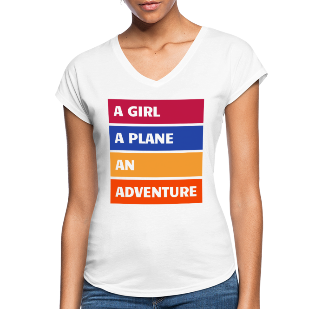 A Girl A Plane An Adventure - white