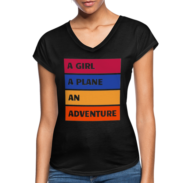 A Girl A Plane An Adventure - black