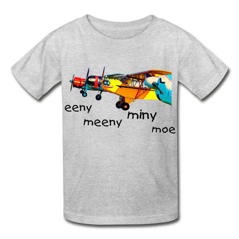 Eeny Hanes Youth Tagless T-Shirt - heather gray