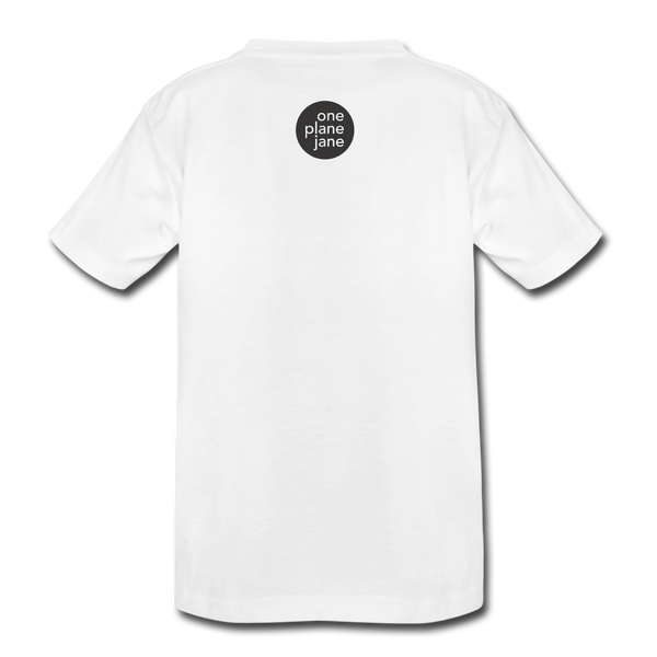 The Smallest One - Kids Tee - white