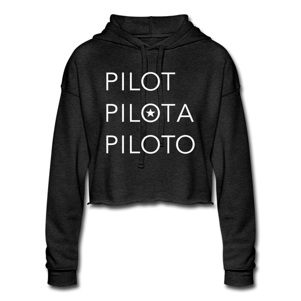 Pilot Cropped Hoodie - deep heather