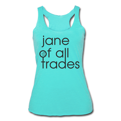 Jane of All Trades Tri-Blend Racerback Tank - turquoise