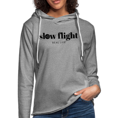 Slow Flight Lightweight Hoodie - heather gray