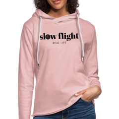 Slow Flight Lightweight Hoodie - cream heather pink