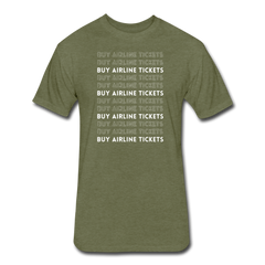 Buy Airline Tickets Unisex Tee - heather military green