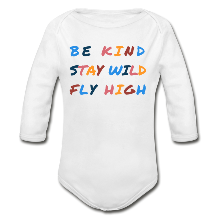 Kind, Wild, and Fly - Organic Cotton Long-sleeve Onesie