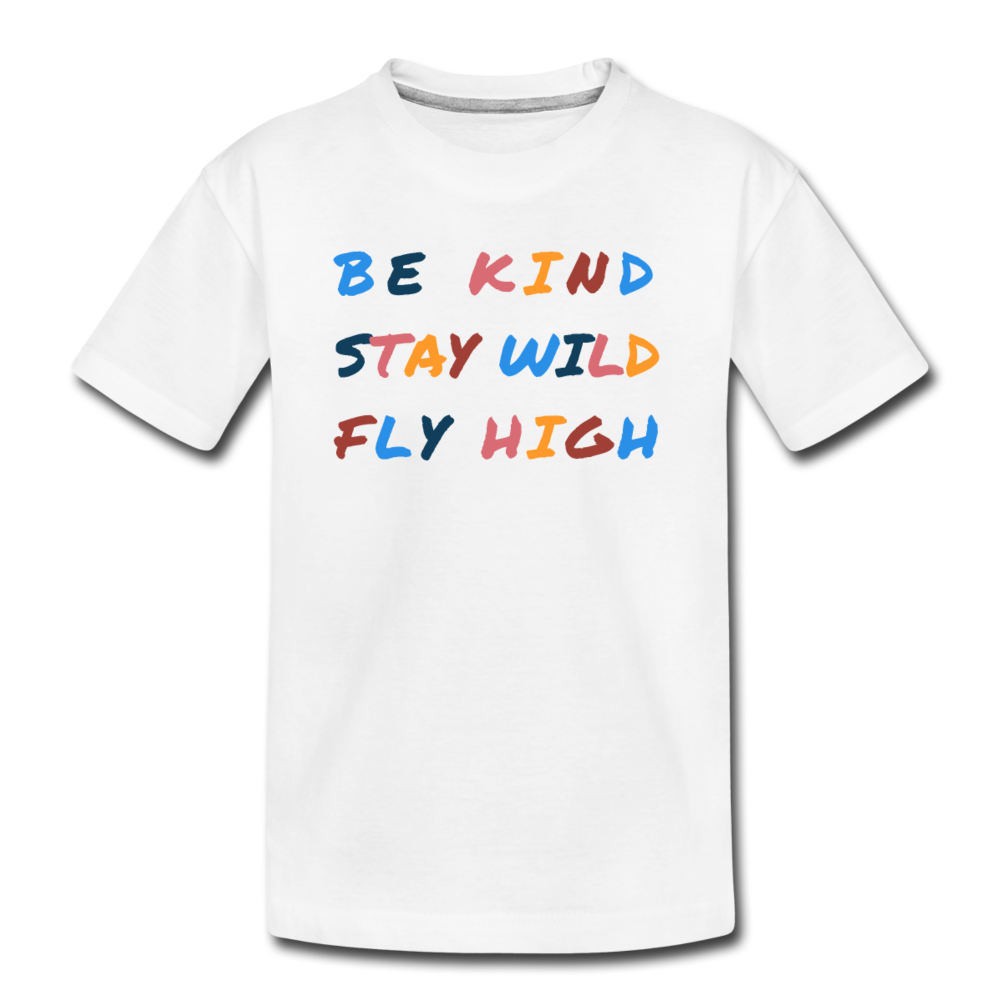 Kind, Wild, and Fly Toddler Tee - white