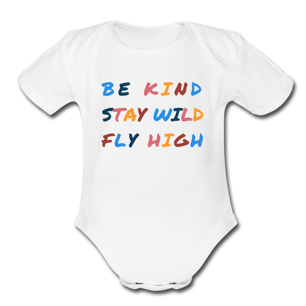 Kind, Wild, and Fly Onesie - white