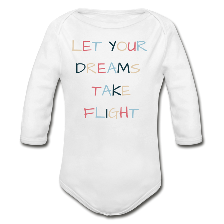 Let Your Dreams Take Flight - Organic Cotton Long-sleeve Onesie