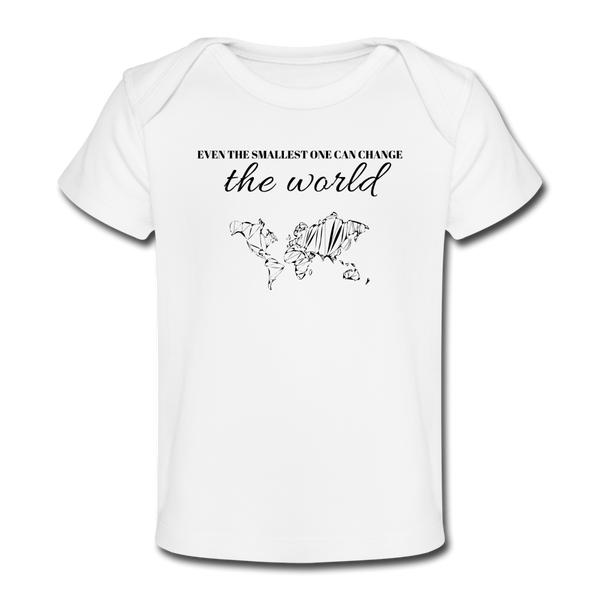 The Smallest One Baby Tee - white