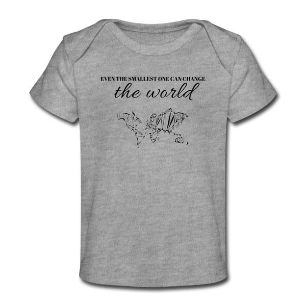 The Smallest One Baby Tee - heather gray
