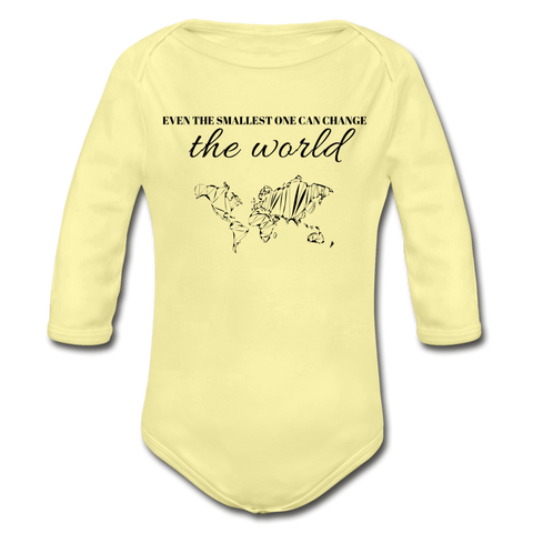 The Smallest One Long Sleeve Onesie - white