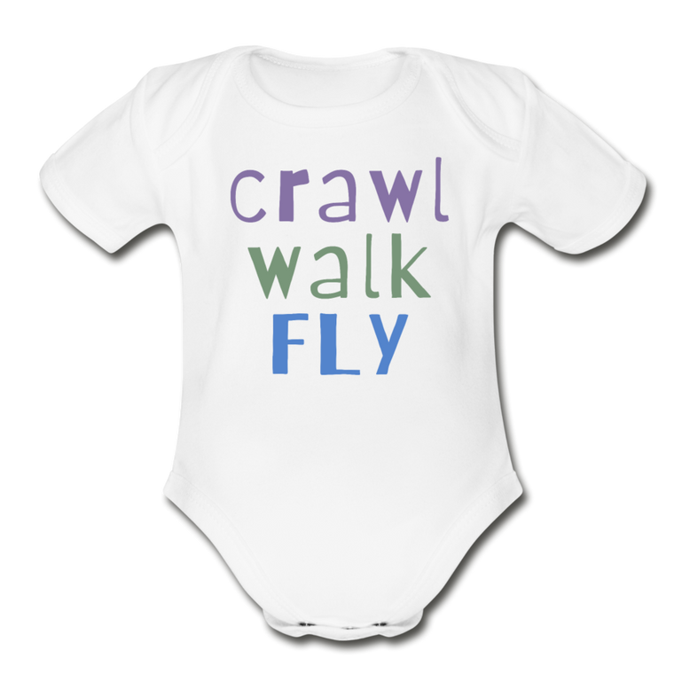Crawl Walk Fly - Organic Cotton Onesie