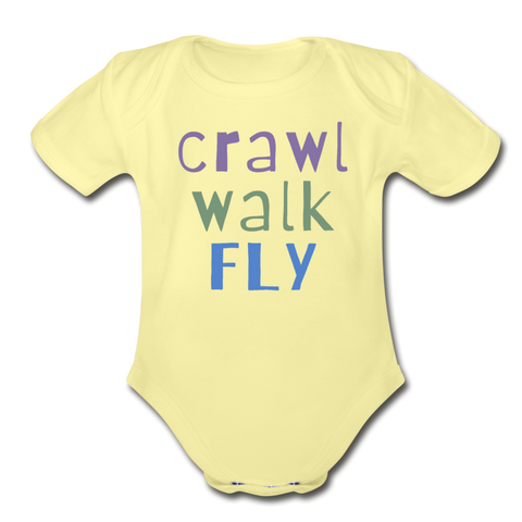 Crawl Walk Fly Onesie - black