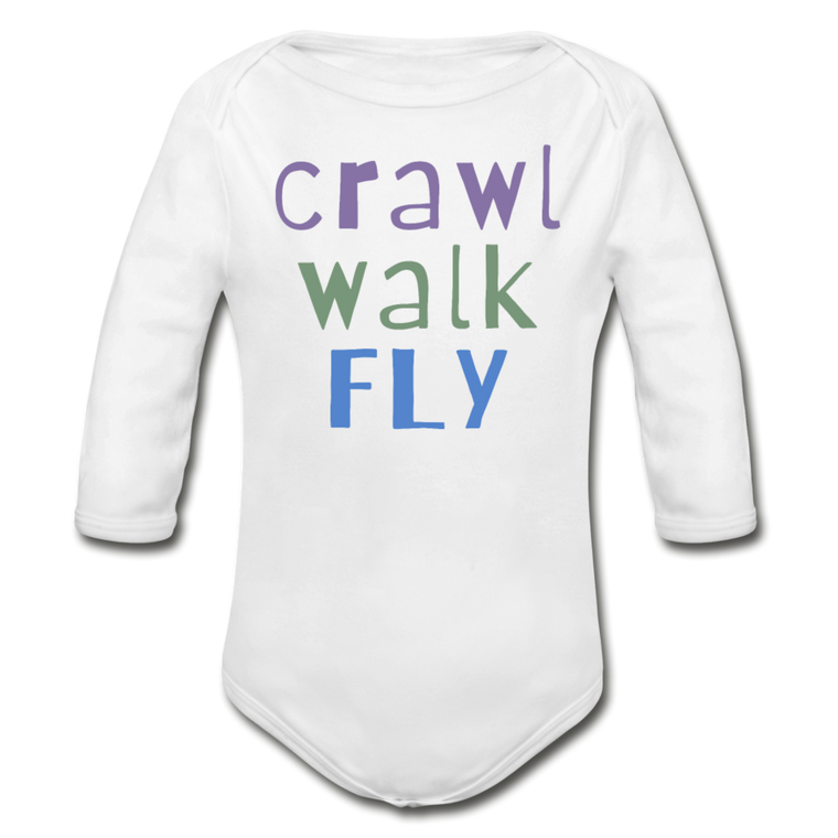 Crawl Walk Fly - Organic Cotton Long-sleeve Onesie