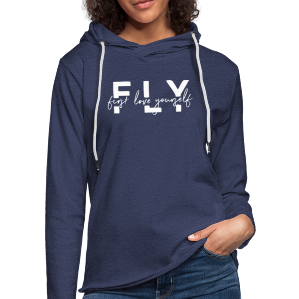 First Love Yourself Terry Hoodie - heather navy